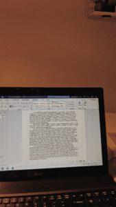 schrijven van mijn eerste boek!